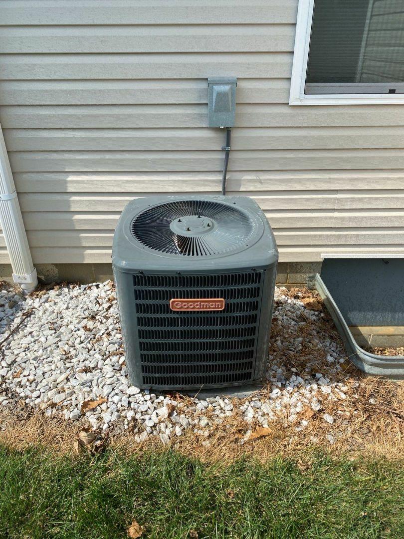 Eaton, OH - Maintenance on Goodman air conditioner