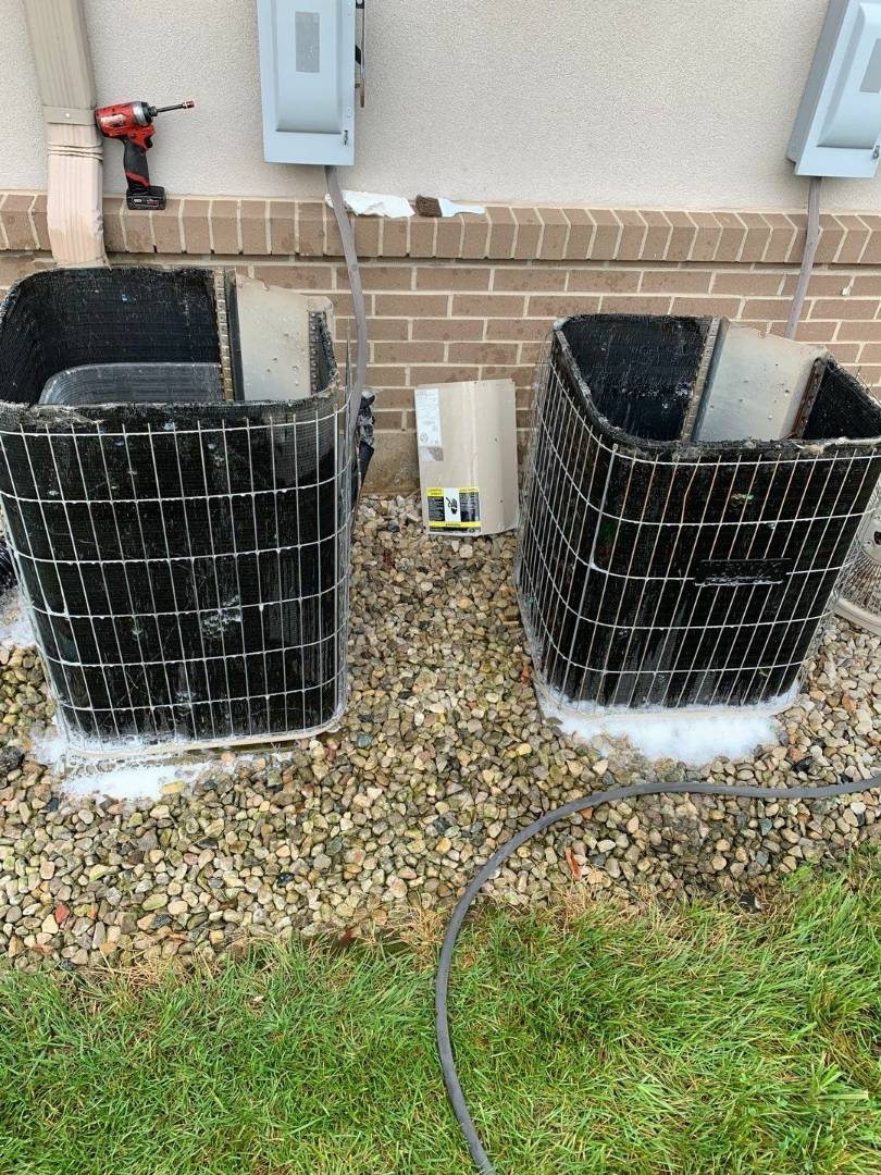 Maintenance on 2 Lennox air conditioners