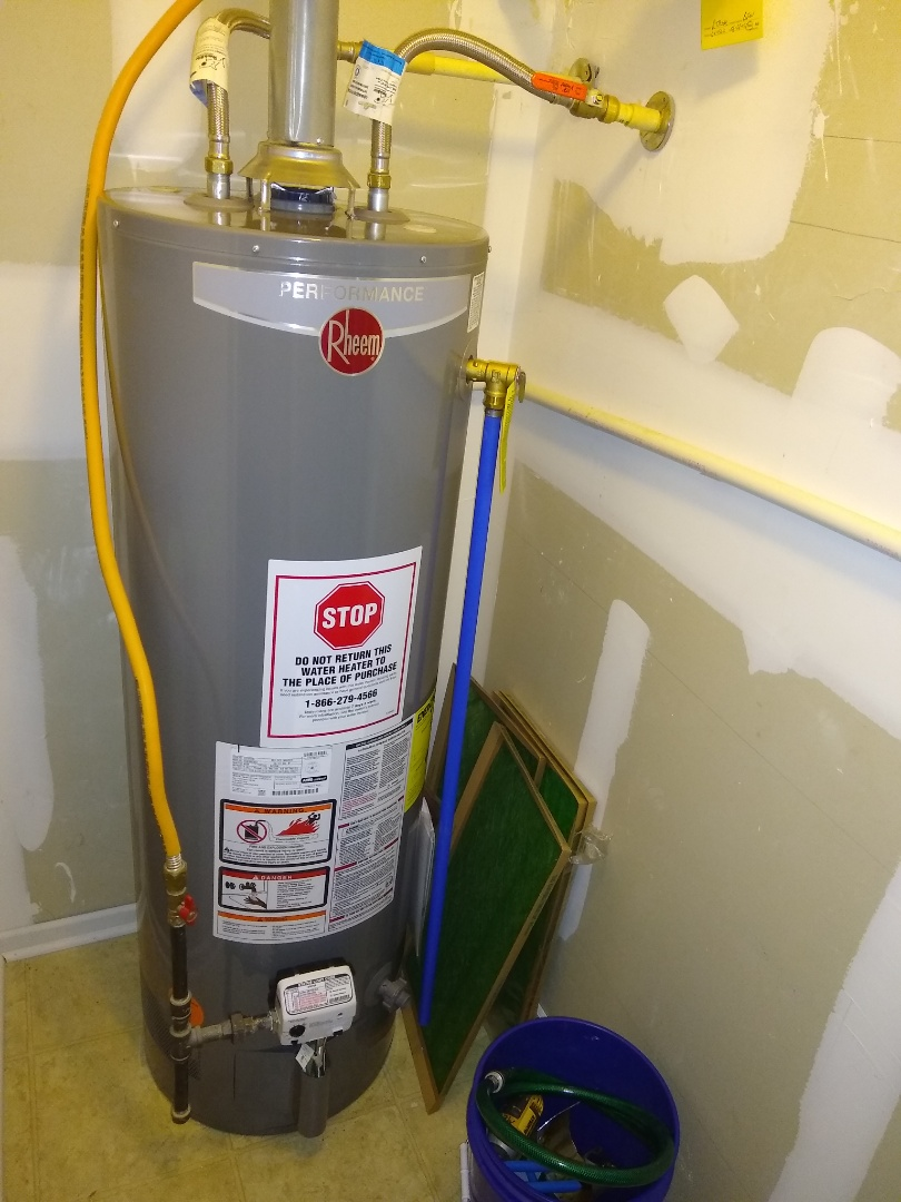 Pendleton, IN - Water heater install