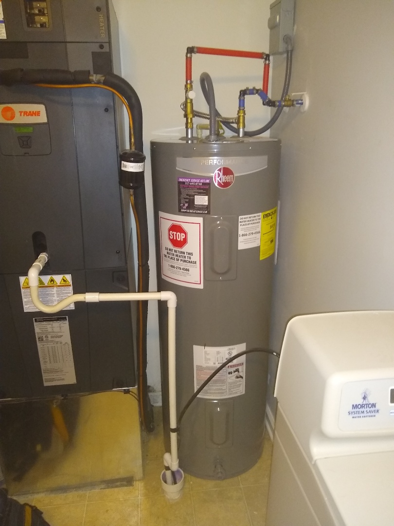 Fishers, IN - Water heater install