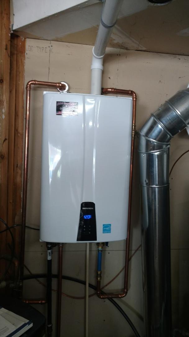 Knightstown, IN - Installing Nevaeh tankless water heater