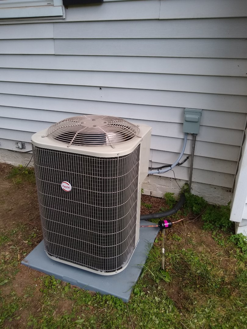 Noblesville, IN - Installed condenser and coil