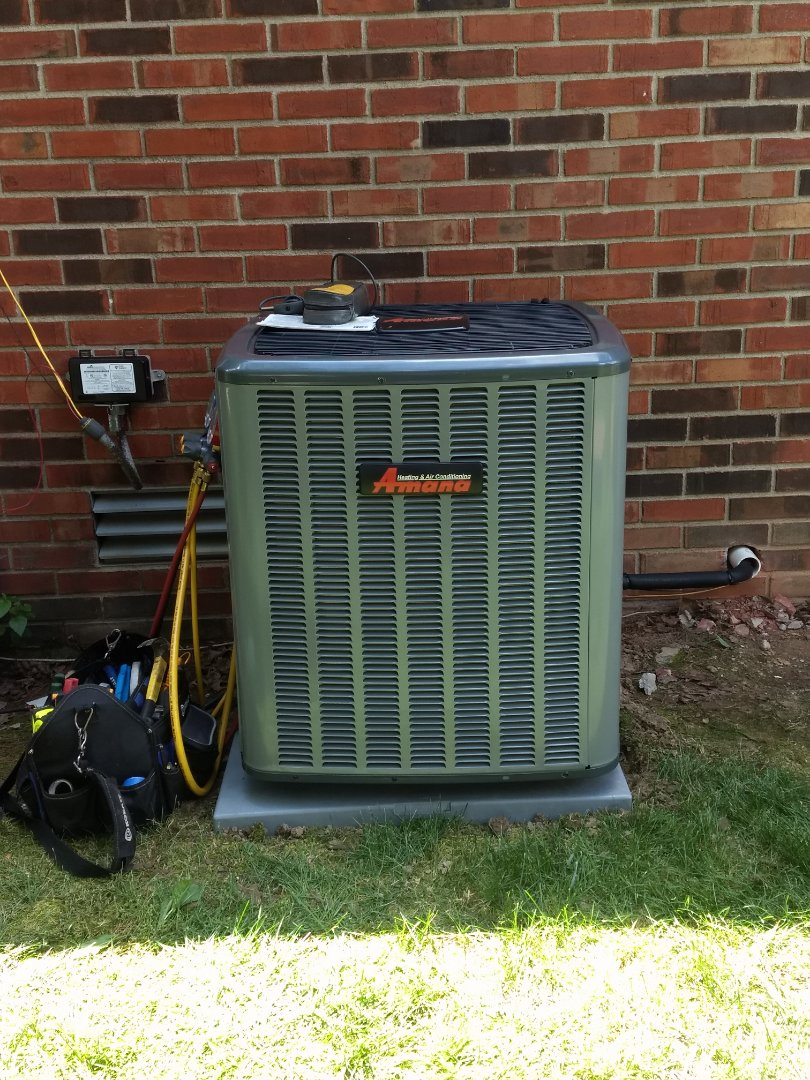 Noblesville, IN - Installed new Amana ac