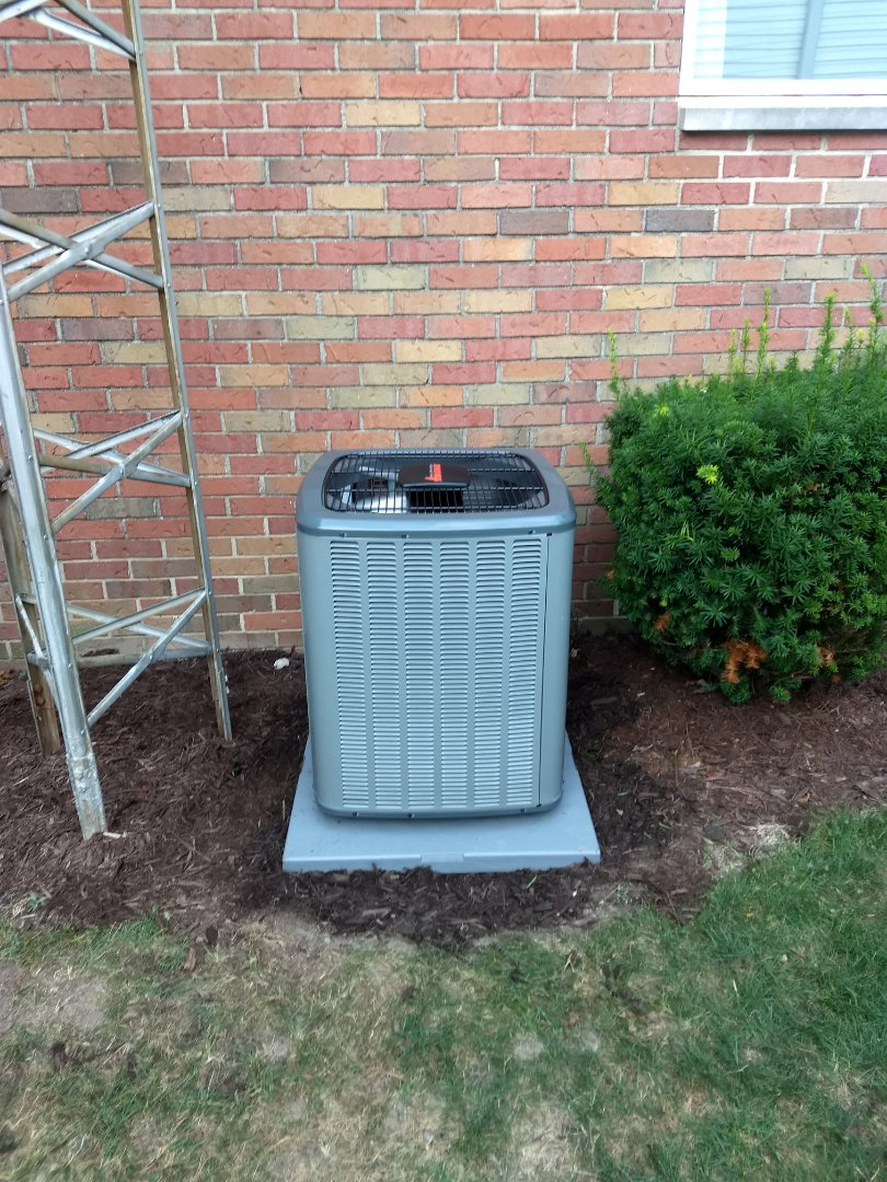 Installed new gas furnace and ac
