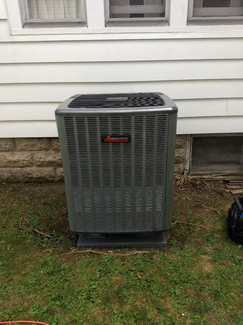 Installed new 16 seer heat pump