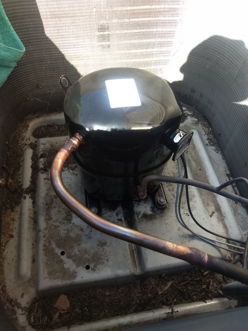 Replaced ac compressor