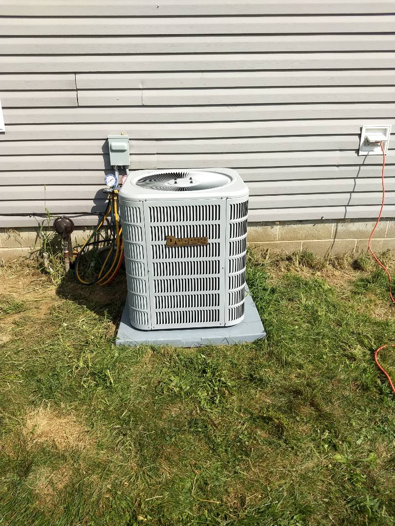 Installed new gas furnace and new ac