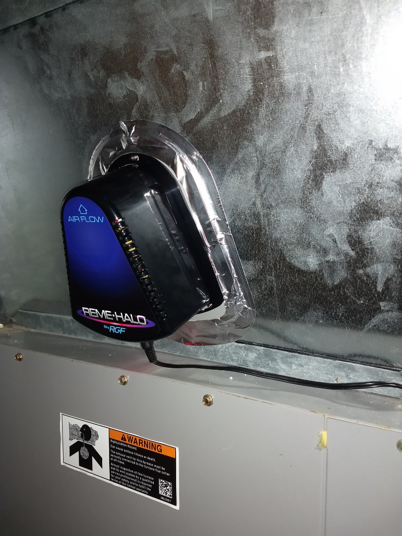 Duct cleaning abd reme halo Vu light
