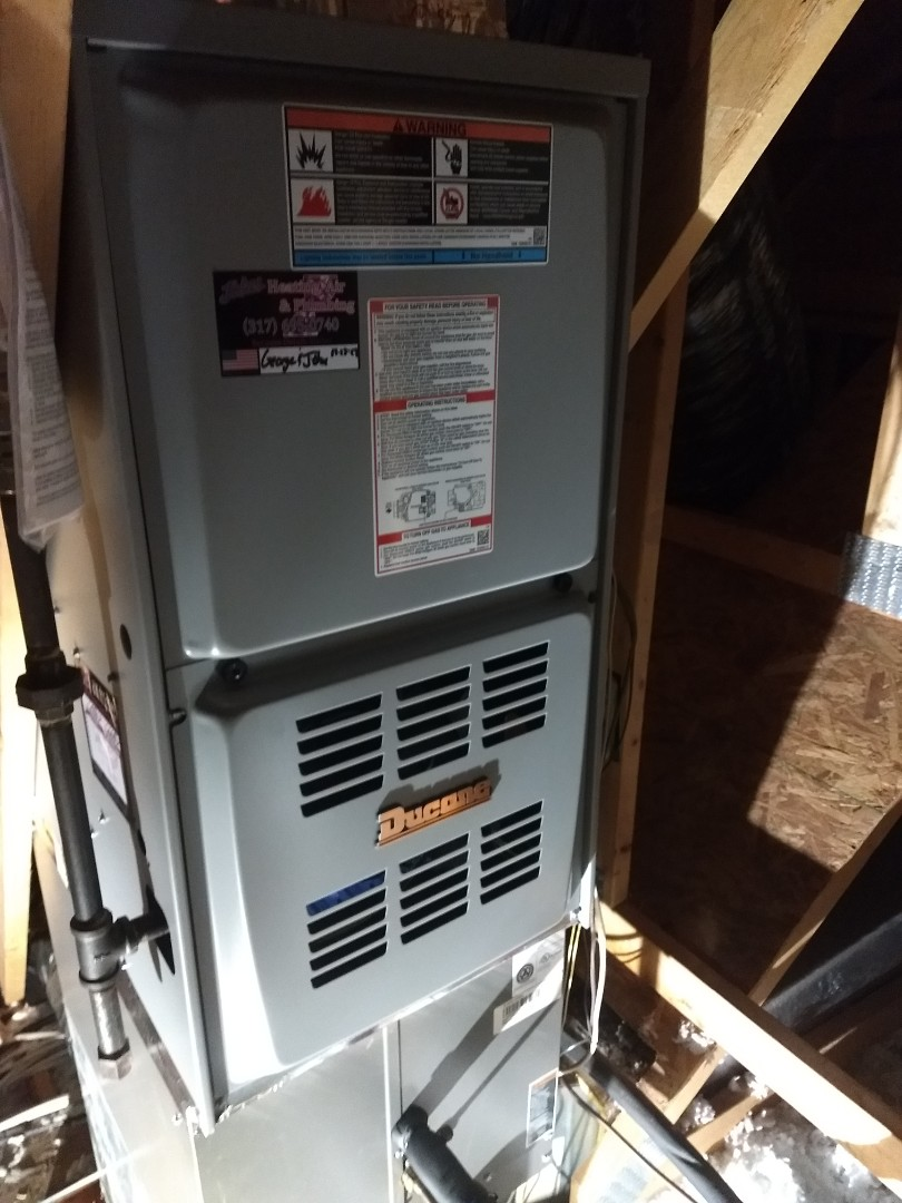 Fishers, IN - Installed new gas furnace