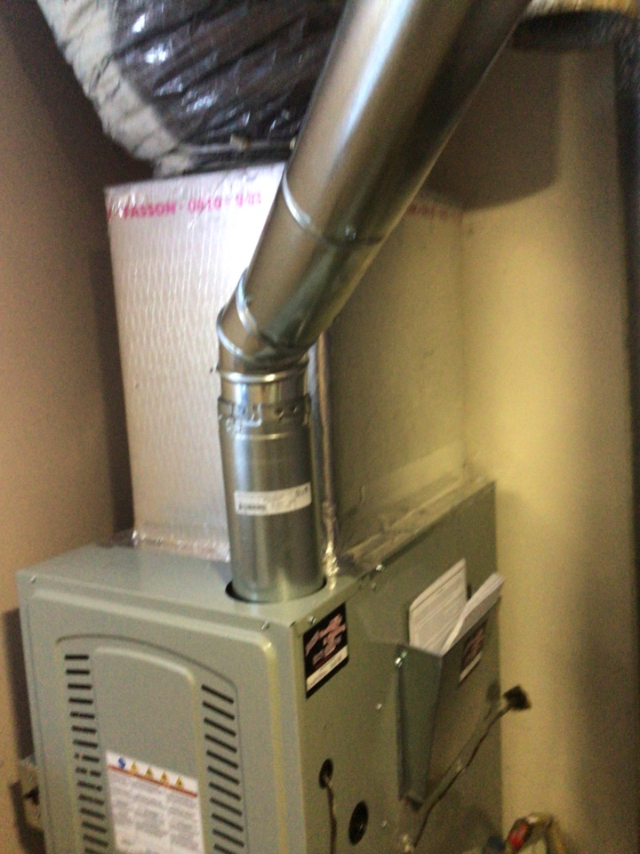 Anderson, IN - Replaced flue pipe