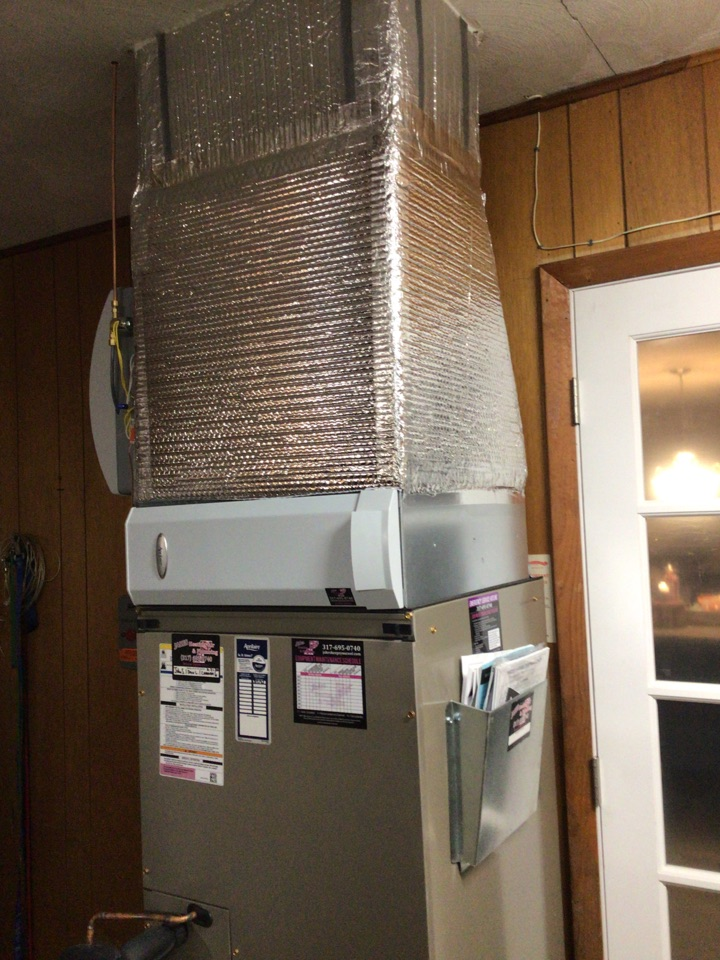 New Castle, IN - Installed new air handler and heat pump