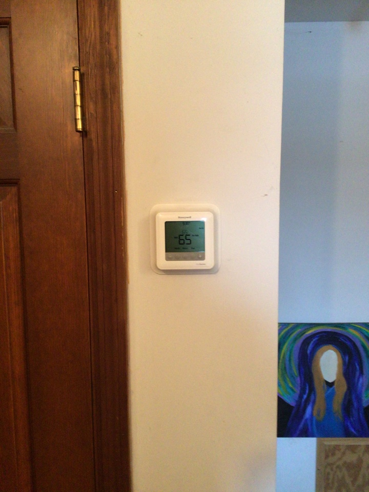 Greenfield, IN - Moved thermostat from 1st floor to 2nd floor