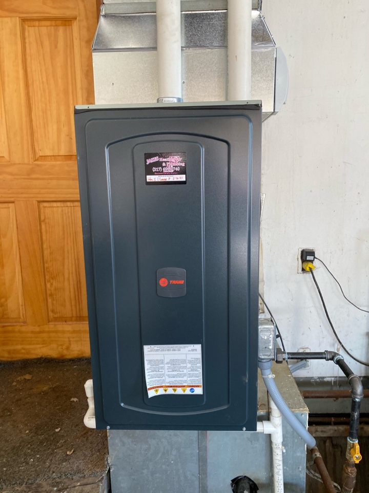 Dunreith, IN - Installed new trane gas furnace