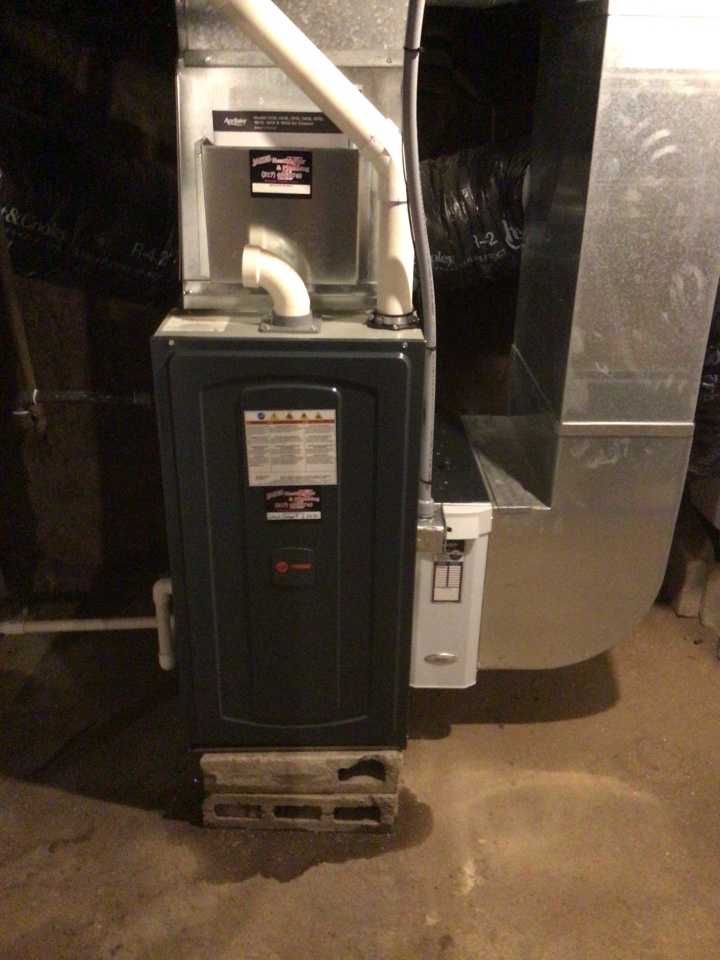 Dunreith, IN - Installed new furnace