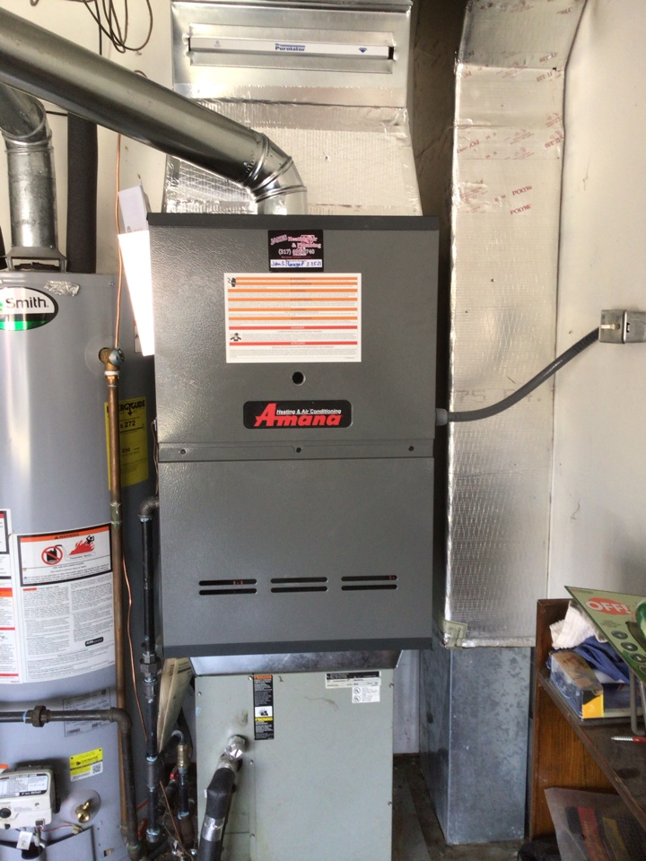 New Palestine, IN - Installed new furnace and thermostat