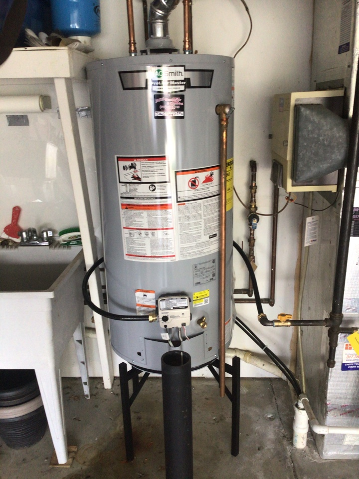 Fishers, IN - Installed new 40 gallon gas water heater