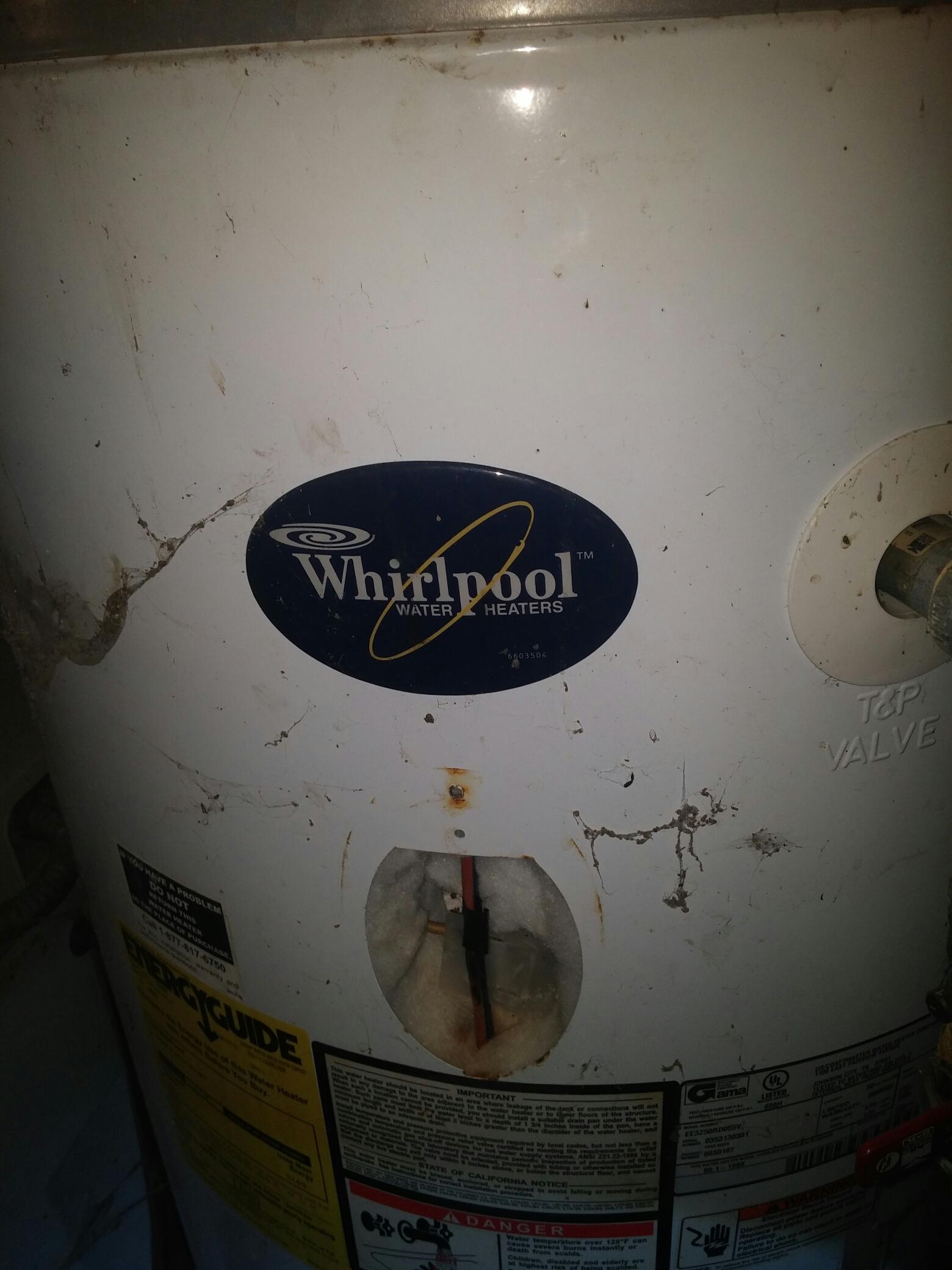 Wilkinson, IN - Whirlpool water heater 50 gallon