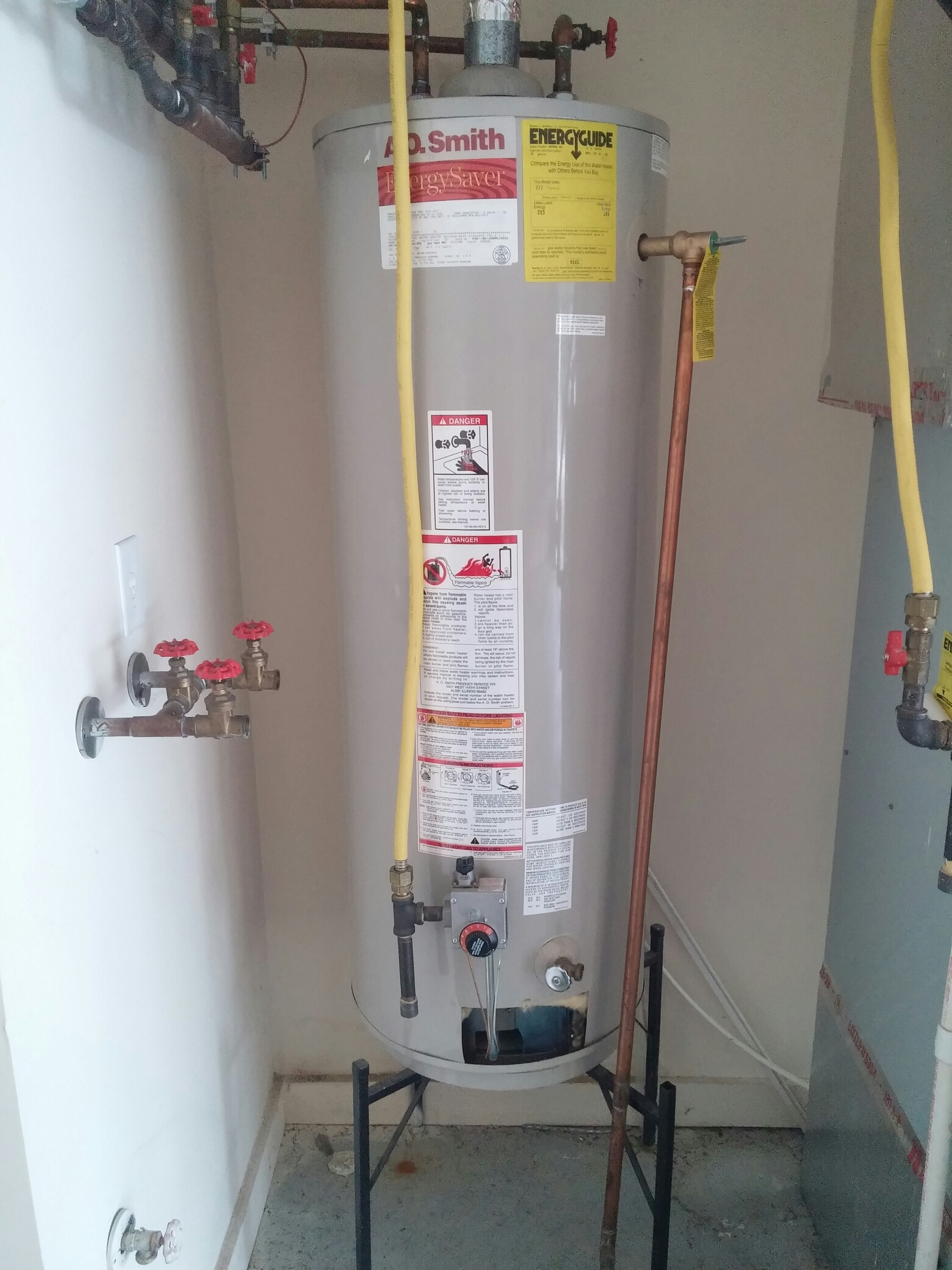 Charlottesville, IN - Ao Smith electric 50 gallon water heater hot