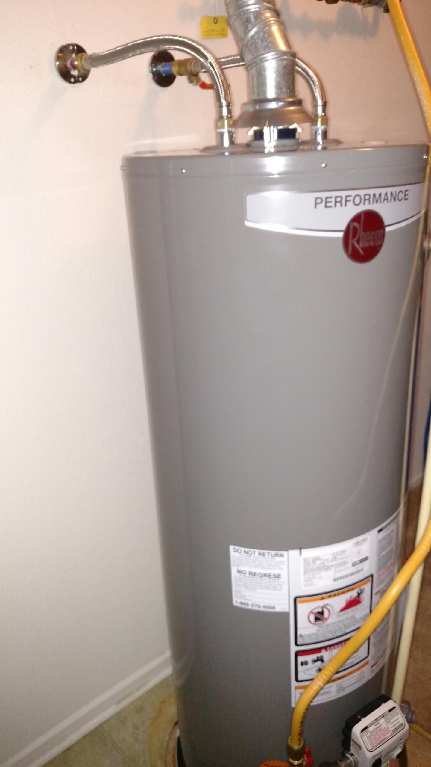 McCordsville, IN - New water heater install