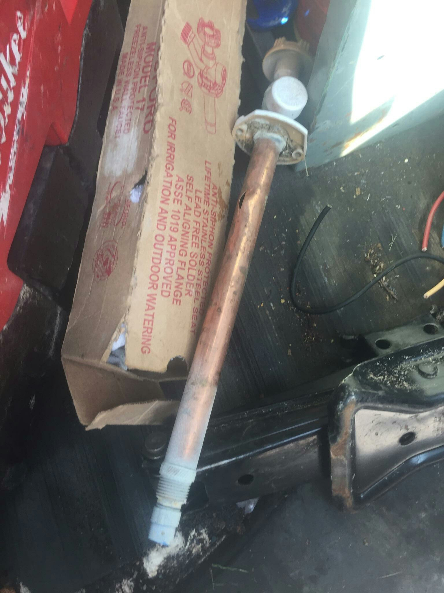 Replacing frozen busted hose bib