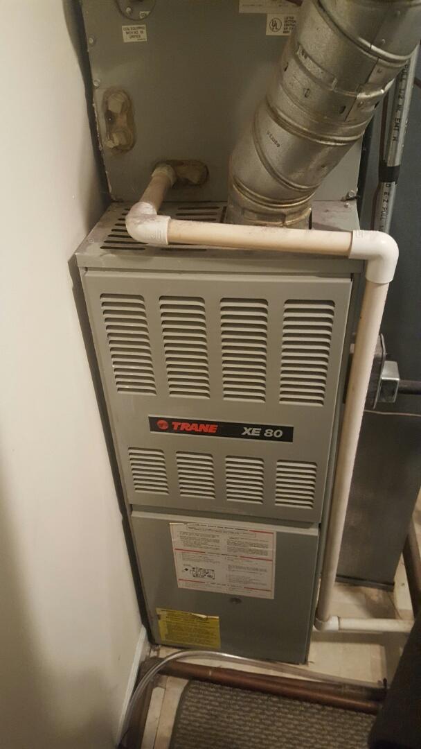 Pendleton, IN - Servicing gas valve on trane furnace