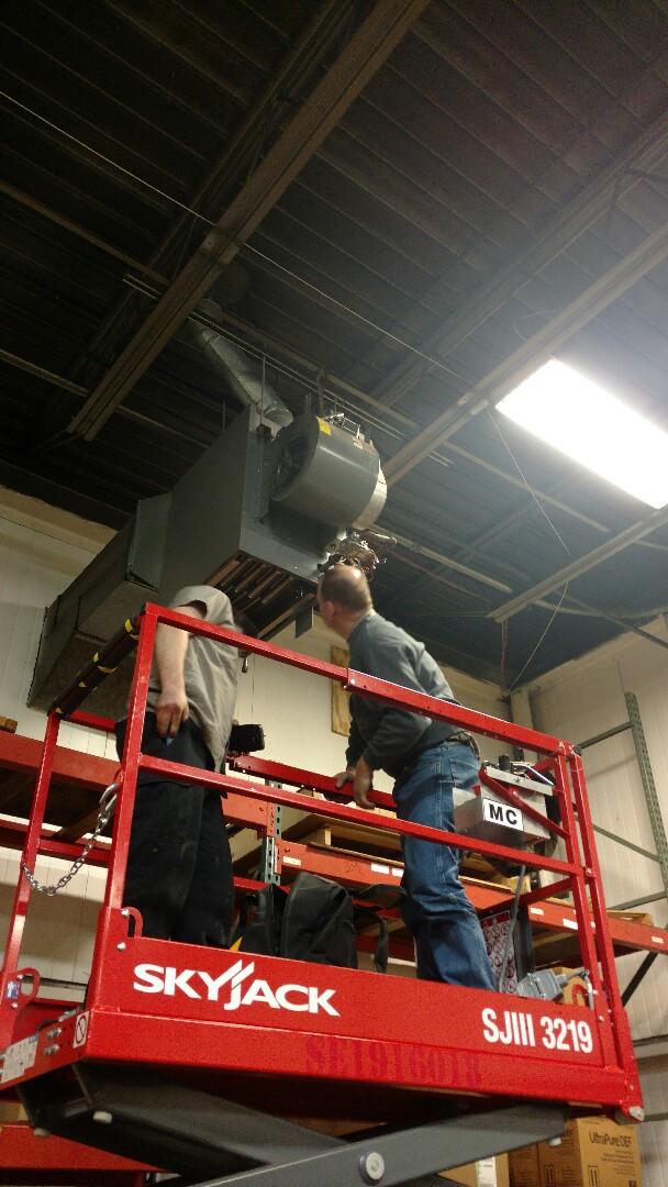 Dayton hanging heater