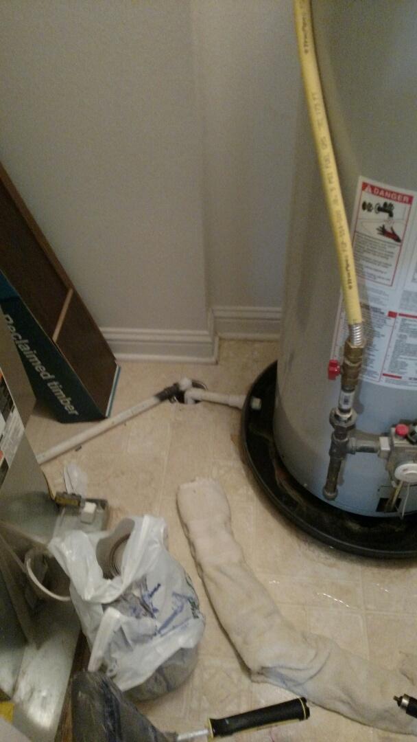Pendleton, IN - Water heater leak