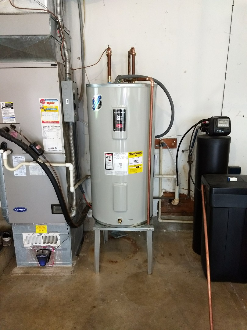 Indianapolis, IN - 50 gallon Bradford white water heater installed