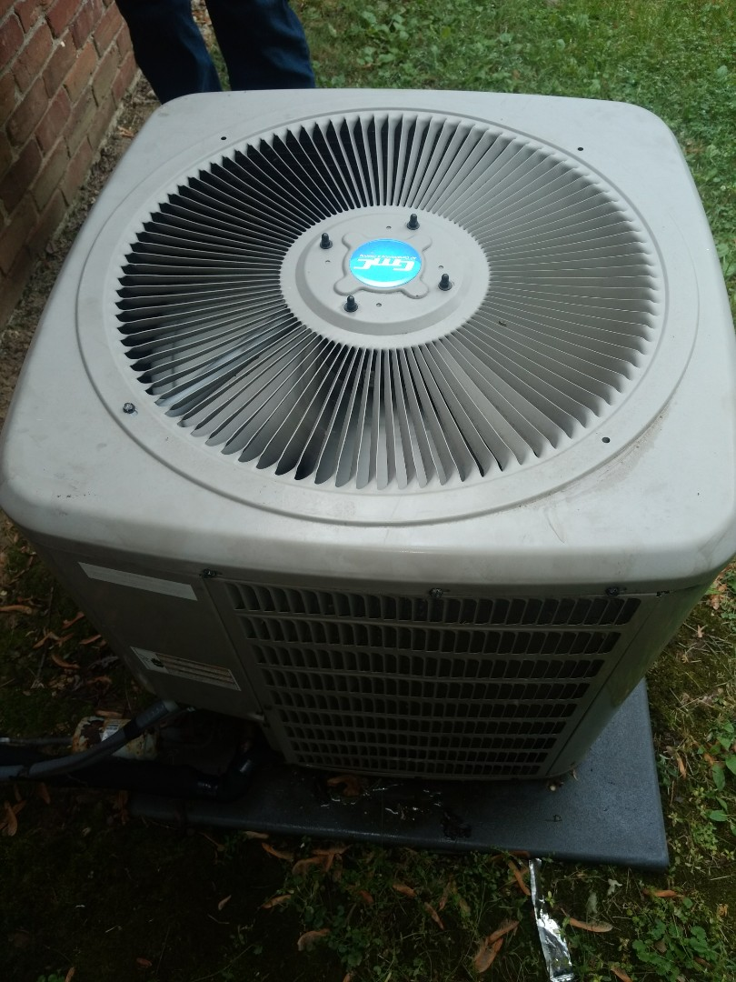 Fishers, IN - Servicing air conditioning system.