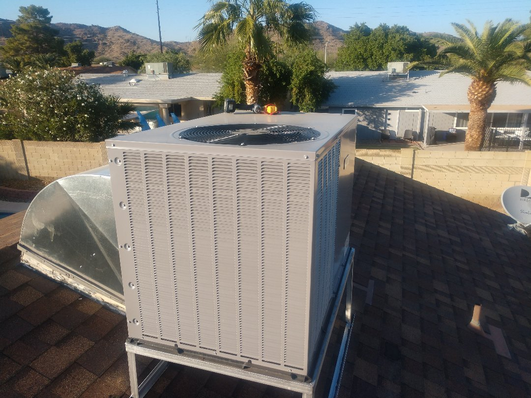 Phoenix, AZ - Ac maintenance. Performed heating tune up on day & night package heatpump