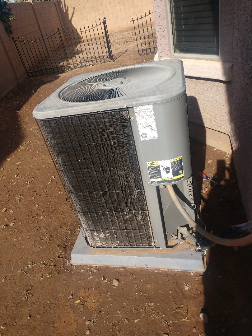 Tolleson, AZ - Heating inspection.perfomed heating tune up on Lennox heatpump sys6