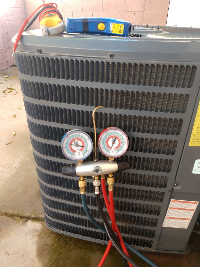 Scottsdale, AZ - Heating inspection. Performed heating tune up on Goodman heatpump