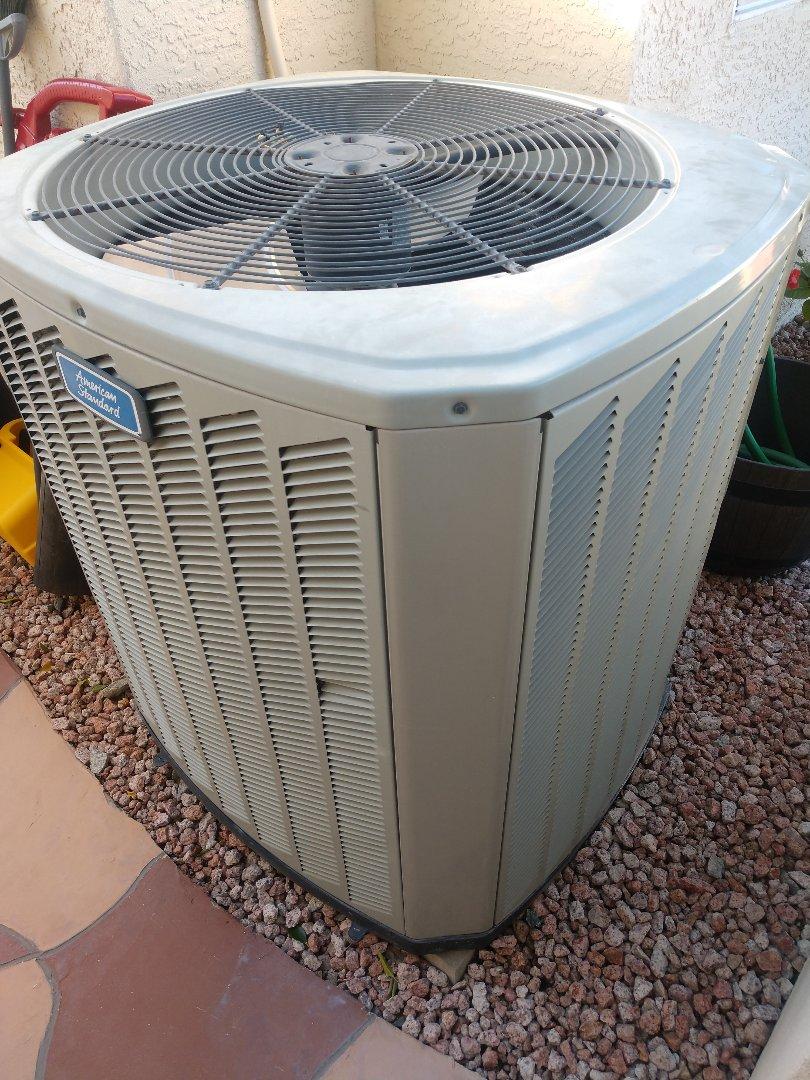 Phoenix, AZ - Heating Inspection. Performed heating tune up on Trane heatpump