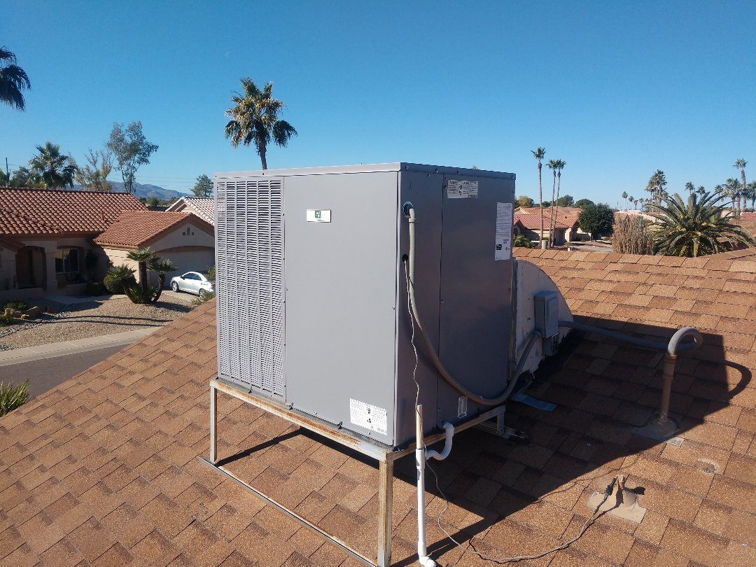 Sun City West, AZ - Heating Inspection. Performed heating tune up on day & night package heatpump