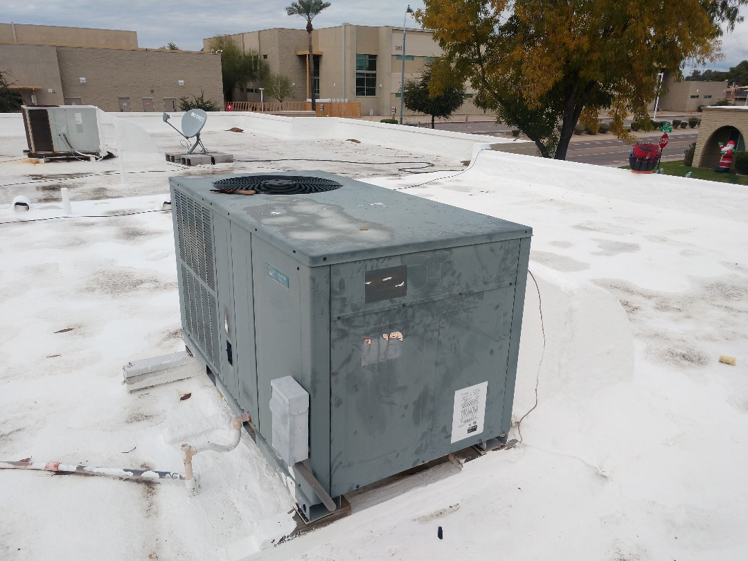 Scottsdale, AZ - Heating Repair. Repaired Goodman package heatpump
