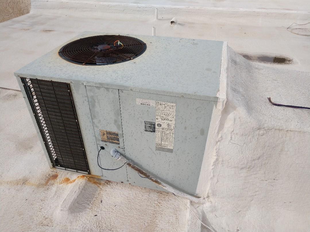 Mesa, AZ - Heating Repair. Replaced heat Rejection motor on Trane package heat pump
