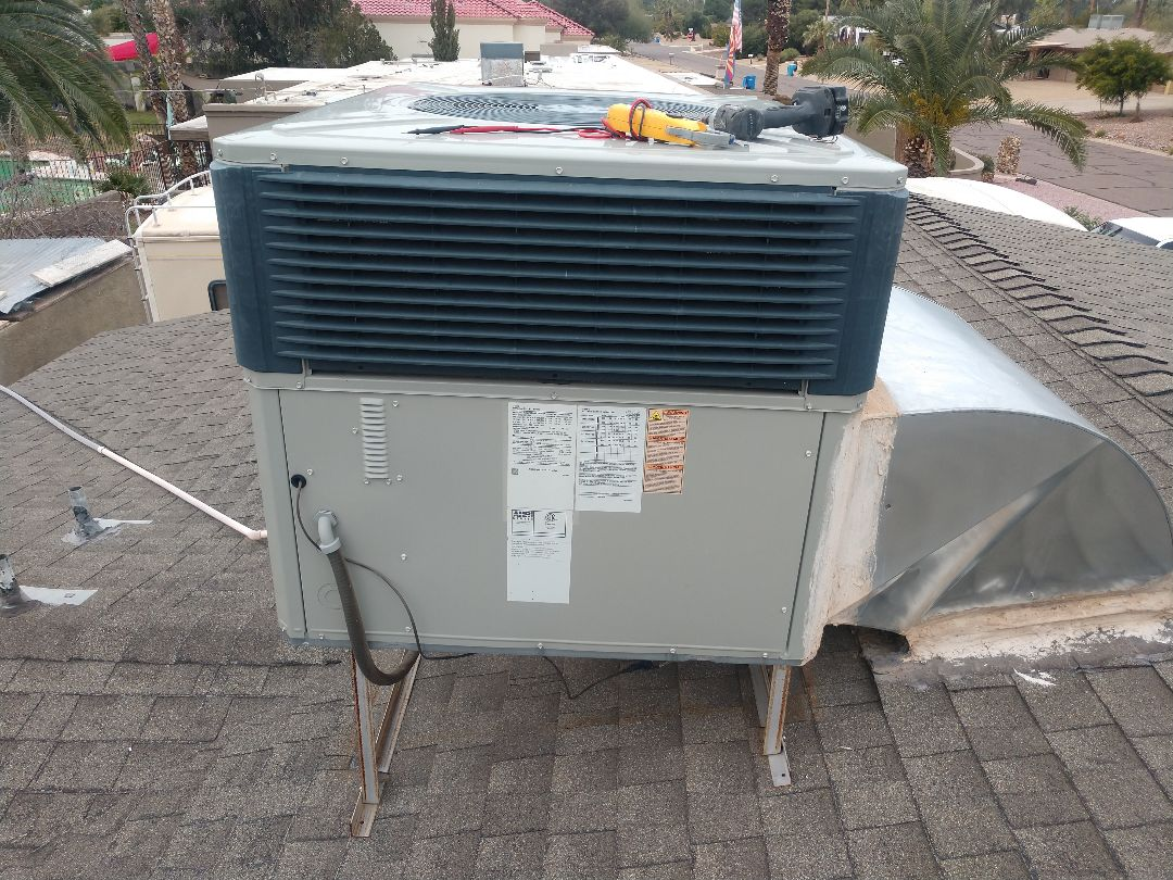 Scottsdale, AZ - Heating Repair. Repaired trane package heat pump