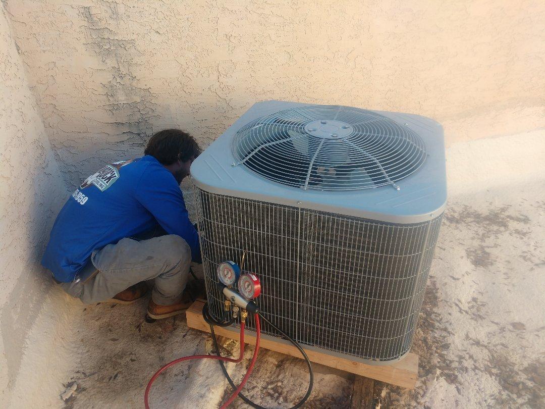 Chandler, AZ - Heatpump Installation. Installed day & night Split system Heat pump