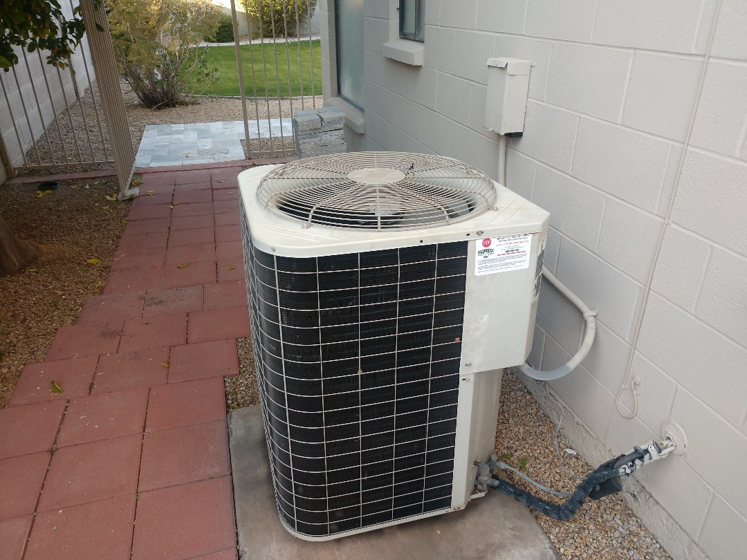 Scottsdale, AZ - Cooling tune up. Performed cooling inspection on day & night heat pump