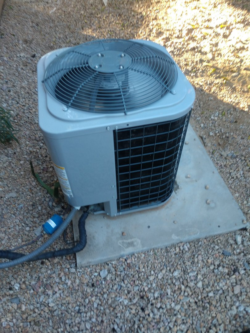 Scottsdale, AZ - Cooling call. Performed ac Repair on day & night heat pump