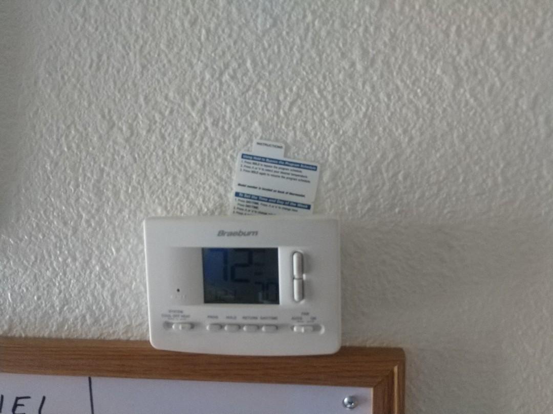 Tempe, AZ - Ac service call. Performed ac Repair on trane heat pump