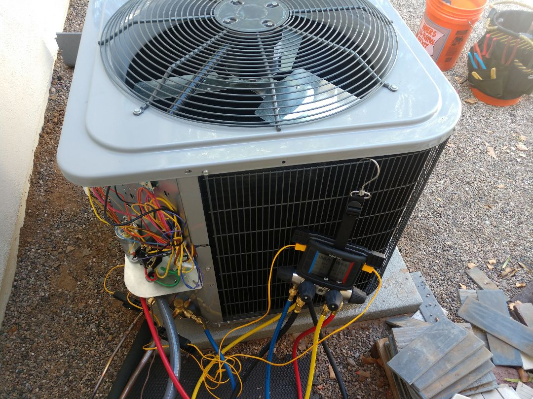 Replacement call. Installed day & night heat pump