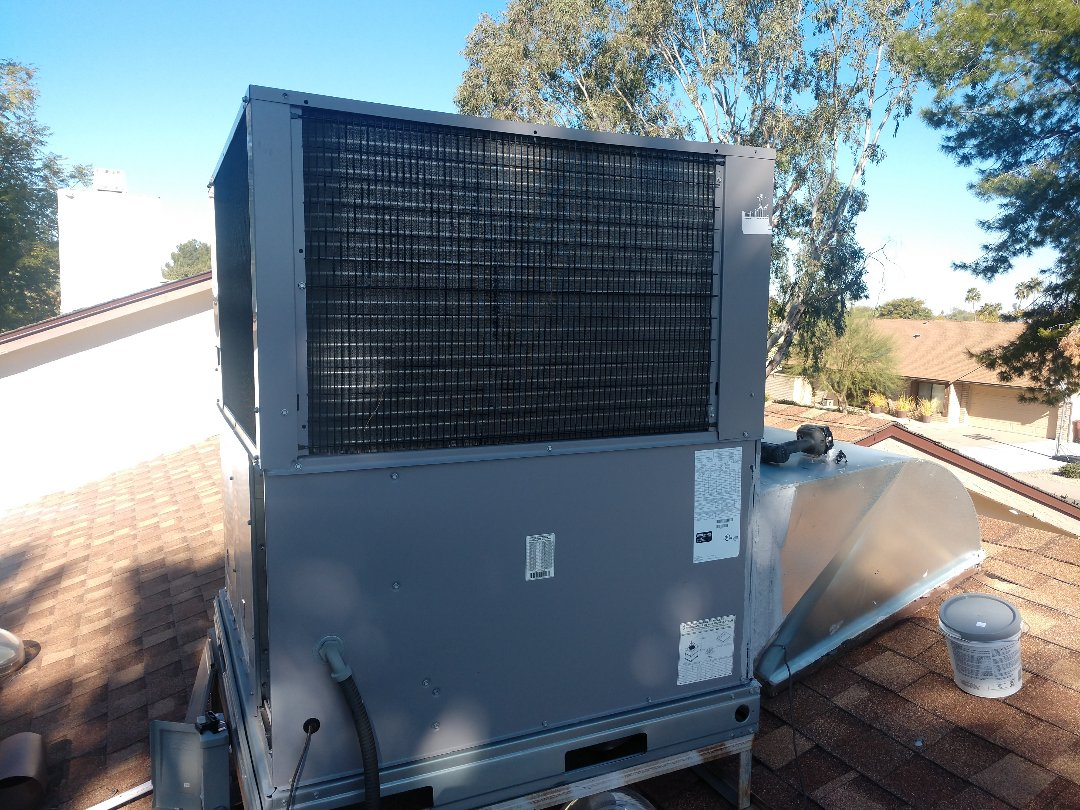 Scottsdale, AZ - Air conditioning installation. Installed day & night heat pump