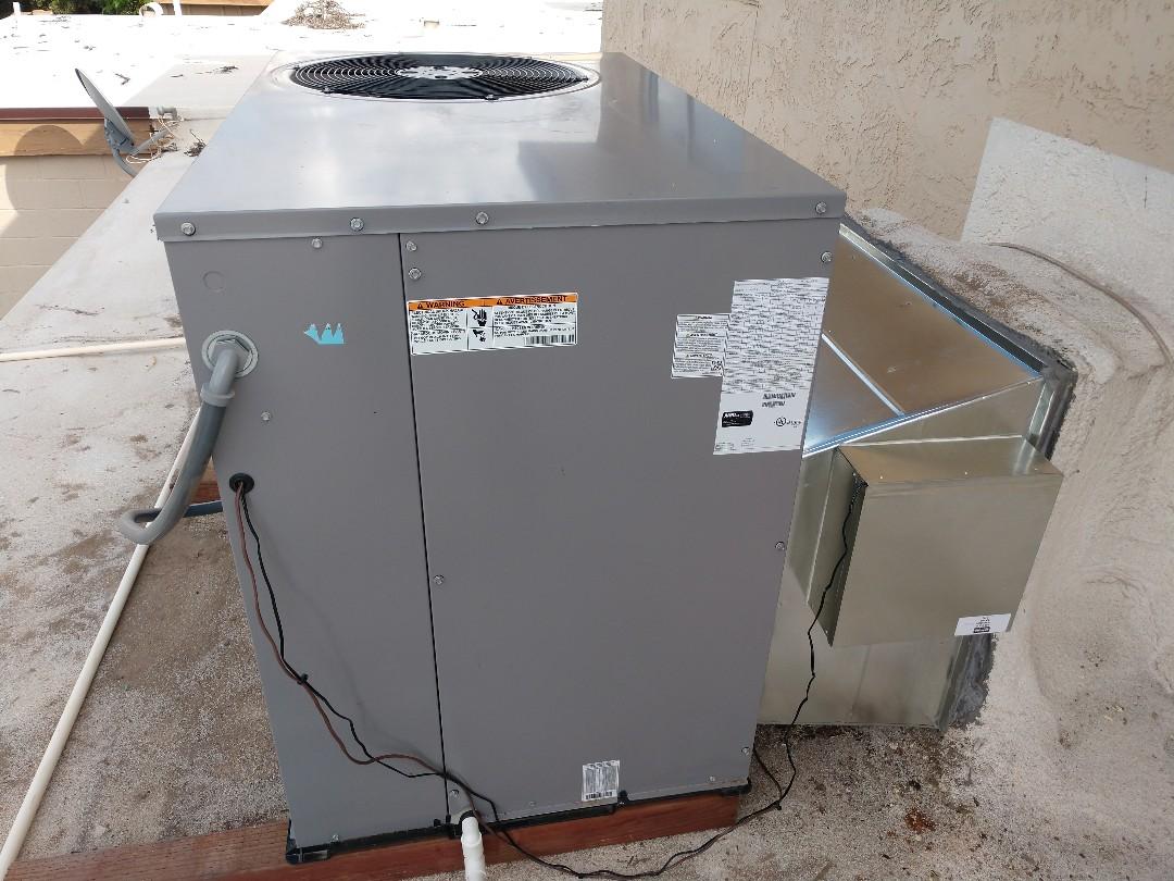 Tempe, AZ - Air conditioning installation. Installed day & night heat pump