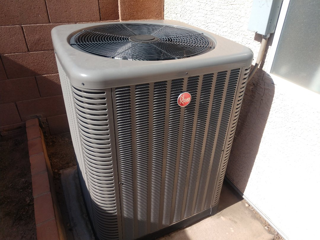 Tempe, AZ - Air conditioning installation. Installed Rheem heat pump
