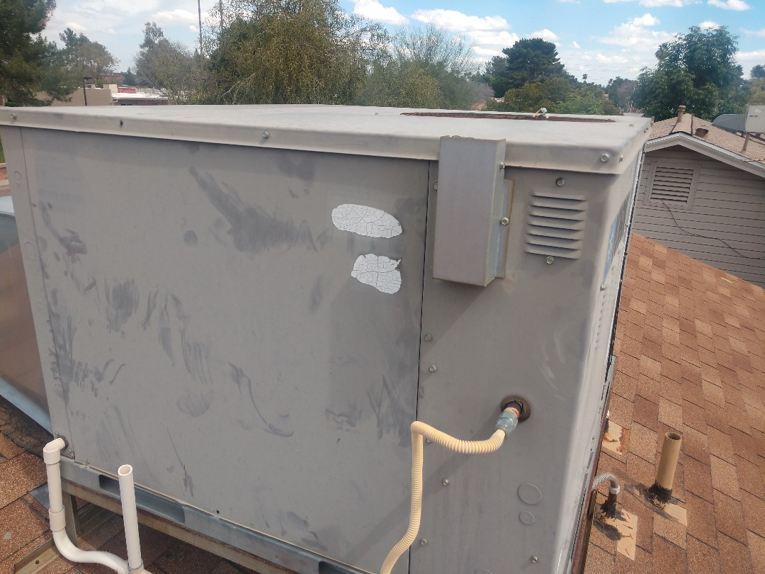 Tempe, AZ - Cooling tune up. Performed ac inspection on York gaspack