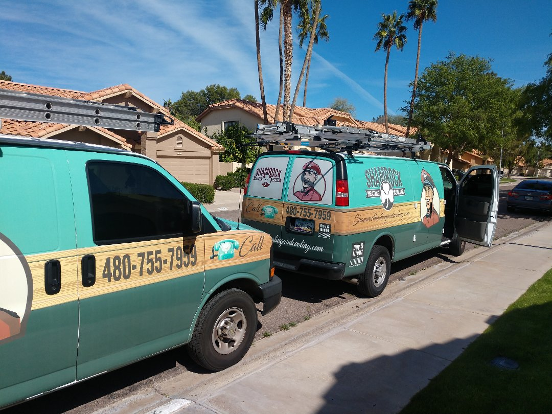 Tempe, AZ - Cooling inspection. Installed air scrubber on day & night heat pump