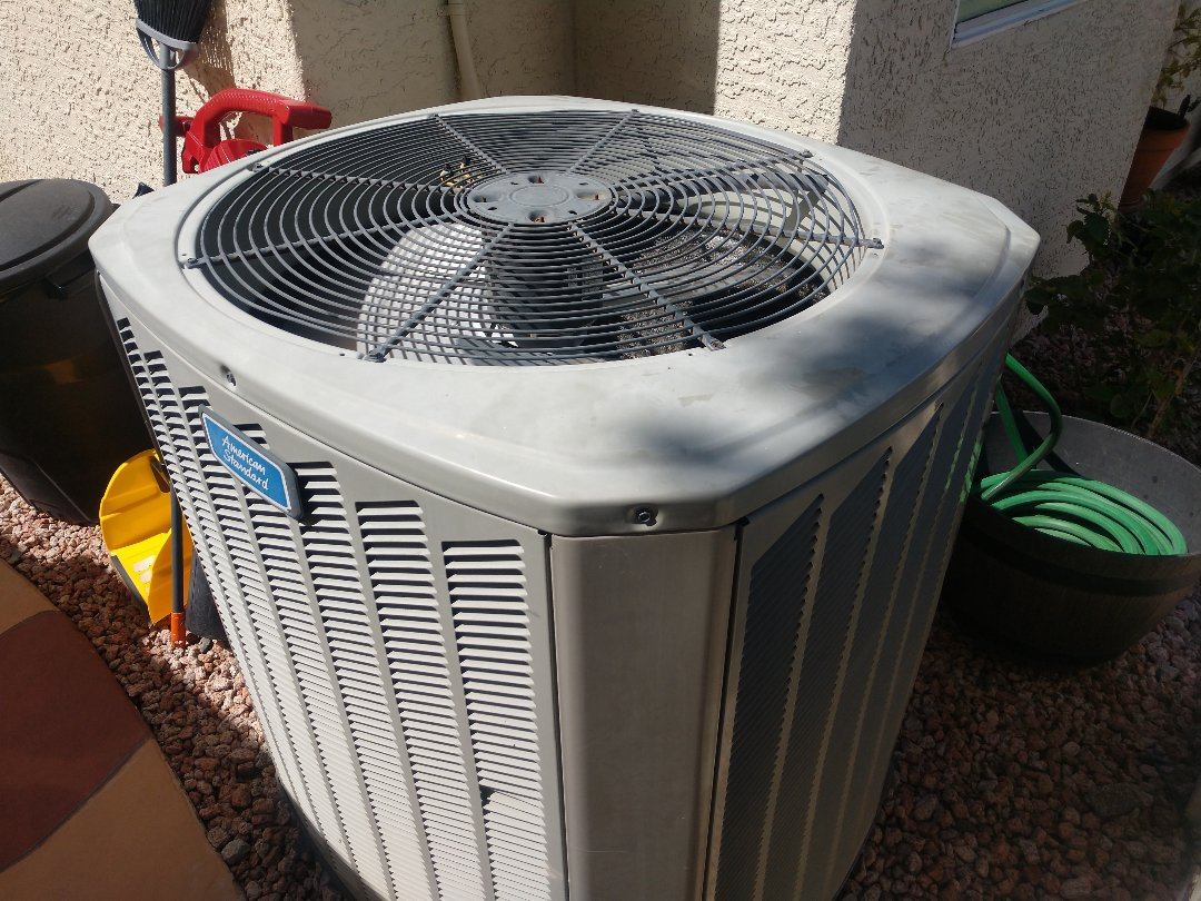 Phoenix, AZ - Ac inspection. Performed air conditioning maintenance on trane heat pump