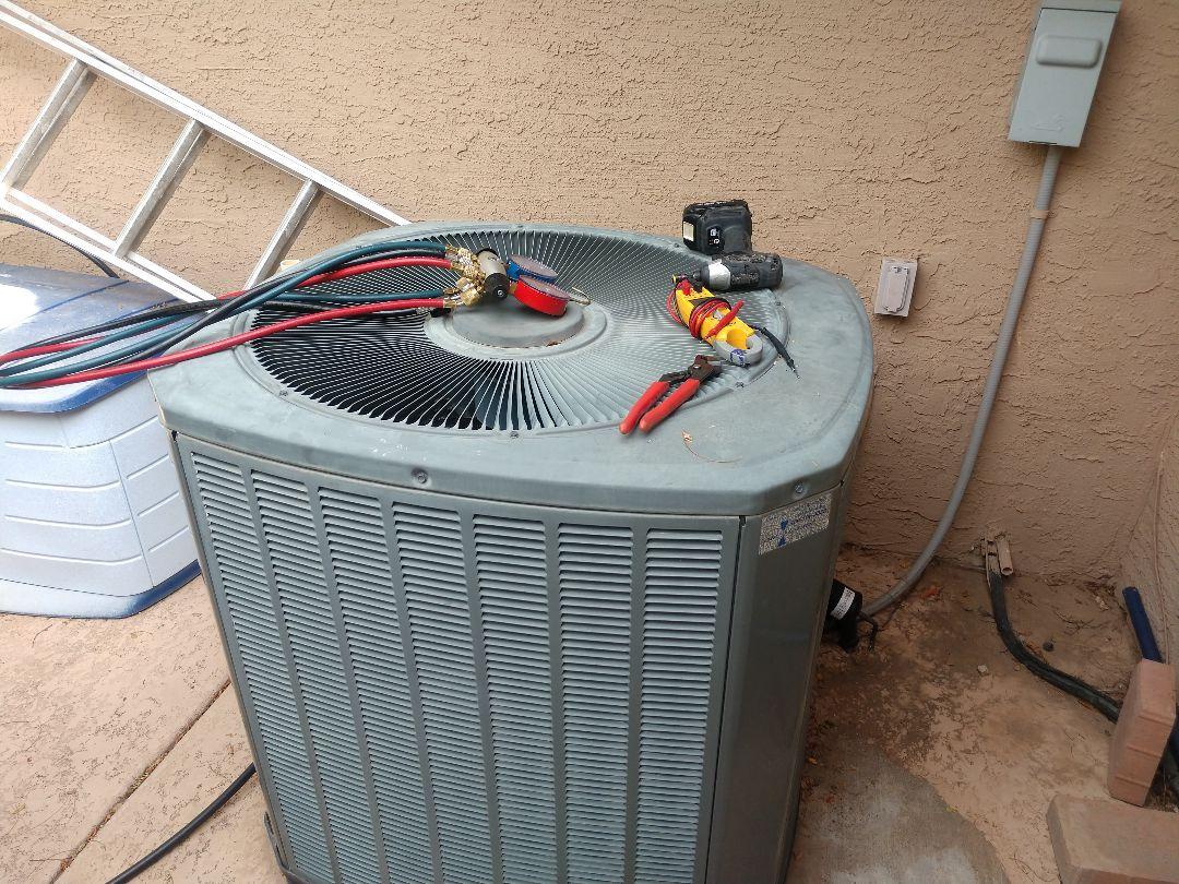 Tempe, AZ - Air conditioning tune up. Performed ac maintenance on trane heat pump