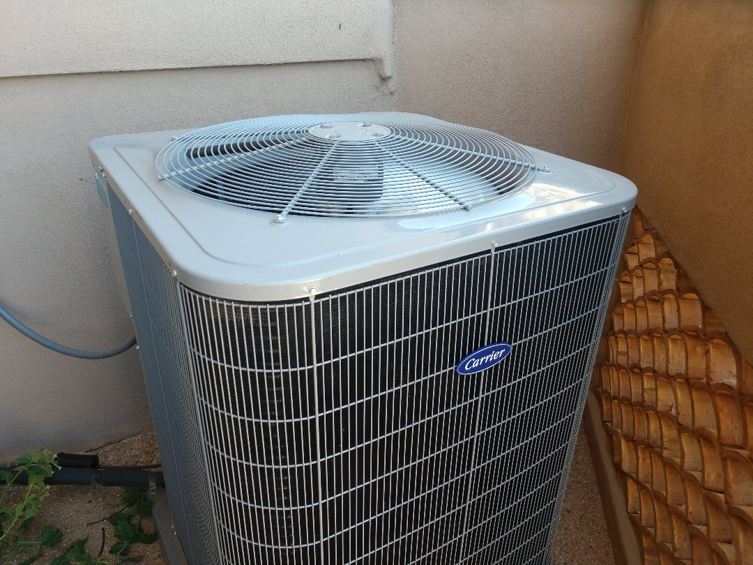 Scottsdale, AZ - Air conditioning tune up. Performed maintenance on carrier heat pump